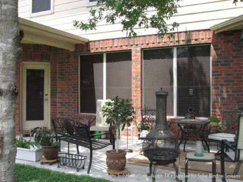 Georgetown Solar Window Screens House Installation